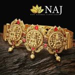 Ruby Studded Traditional Temple Vanki