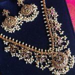 Semi Bridal Guttapusalu Necklace Set