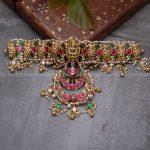 Silver Kundan Lakshmi Choker Necklace
