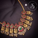 Silver Kundan Peacock Design Necklace