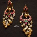 Silver Kundan And Pearl Earrings