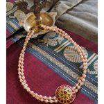 Swaroski Pearl Choker With Kemp Pendant