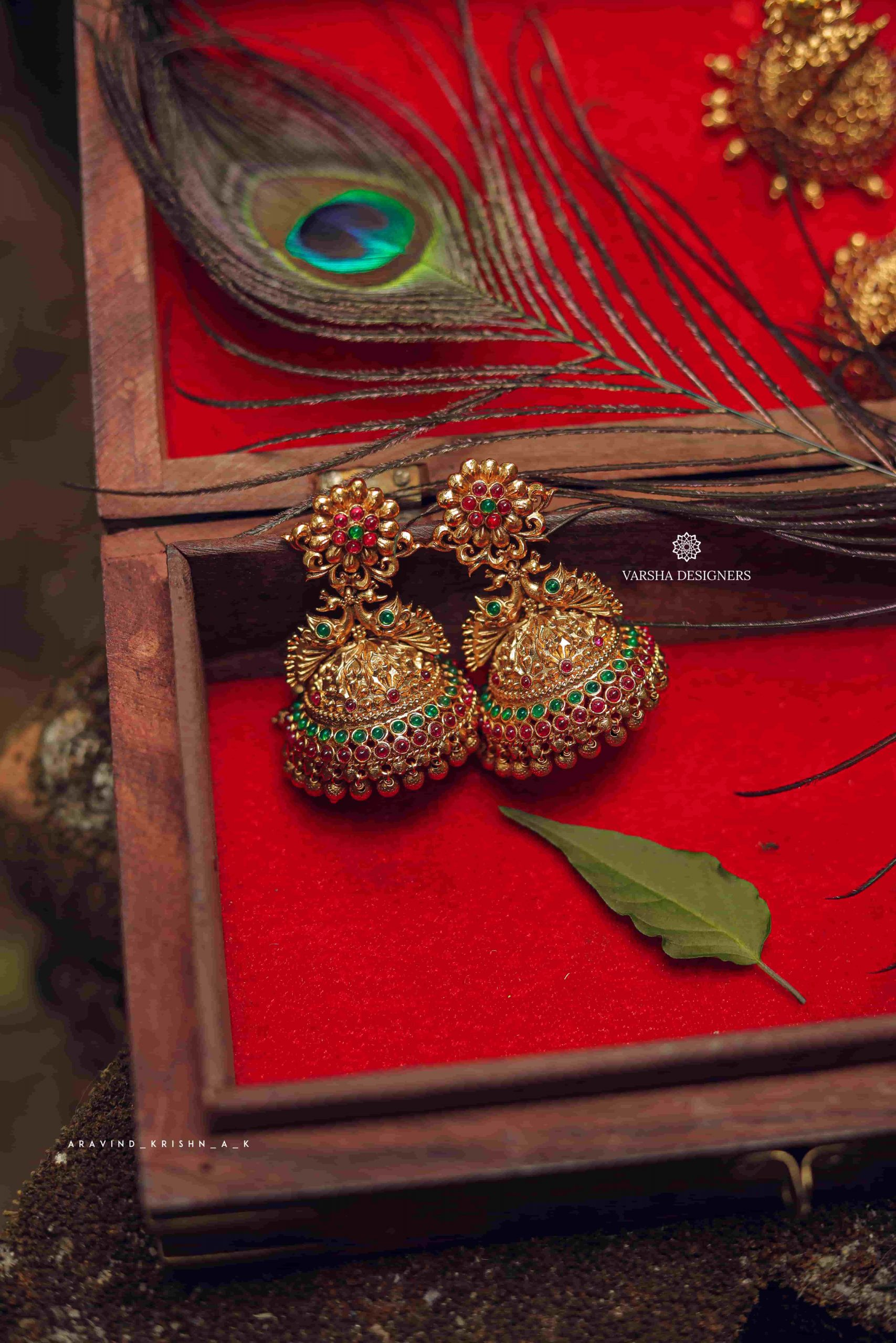 Exclusive-Bridal-Peacock-Design-Jhumka-01-scaled