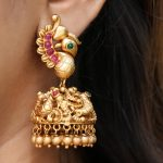 Gold Finish Bird Design Jhumka
