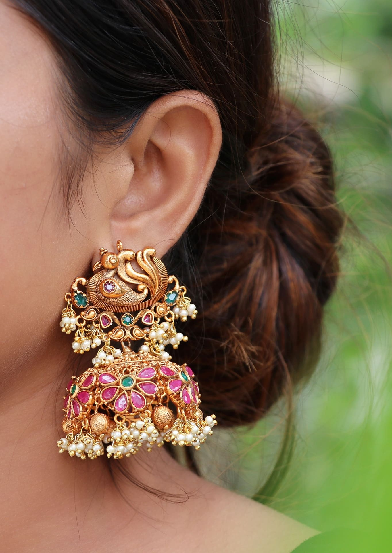 Gorgeous-Big-Peacock-Statement-Jhumkas-01