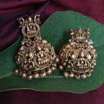 Grand Imitation Lakshmi Jhumkas