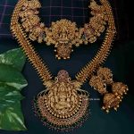 Lakshmi Pendant Heavy Bridal Set With Jhumka