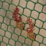 Designer Pure Kemp Peacock Earrings