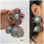 Beautiful Silver Jhumkas