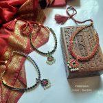 Brass Base Semiprecious Stones Necklace