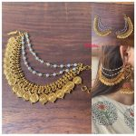 Coin Matte Ear Chain For Heavy Jhumkas