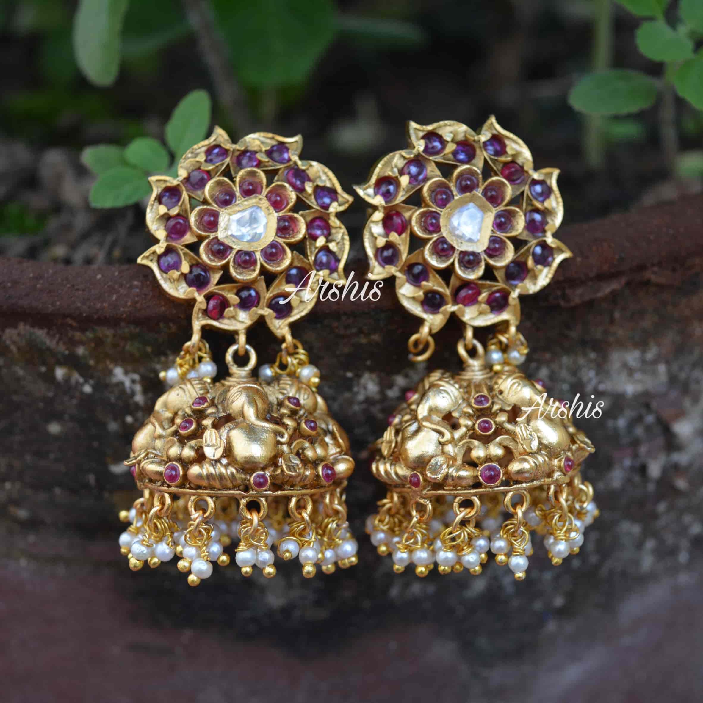 ganesha-design-jhumka