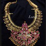 Gold Imitation Stone Studded Necklace
