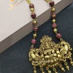 Gold Plated Silver Laxmi Pendant Chain