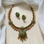 Green Flower Necklace Set