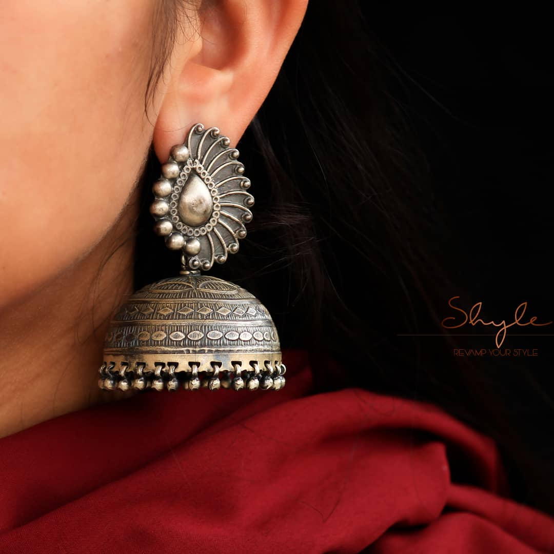handcrafted-silver-jhumka