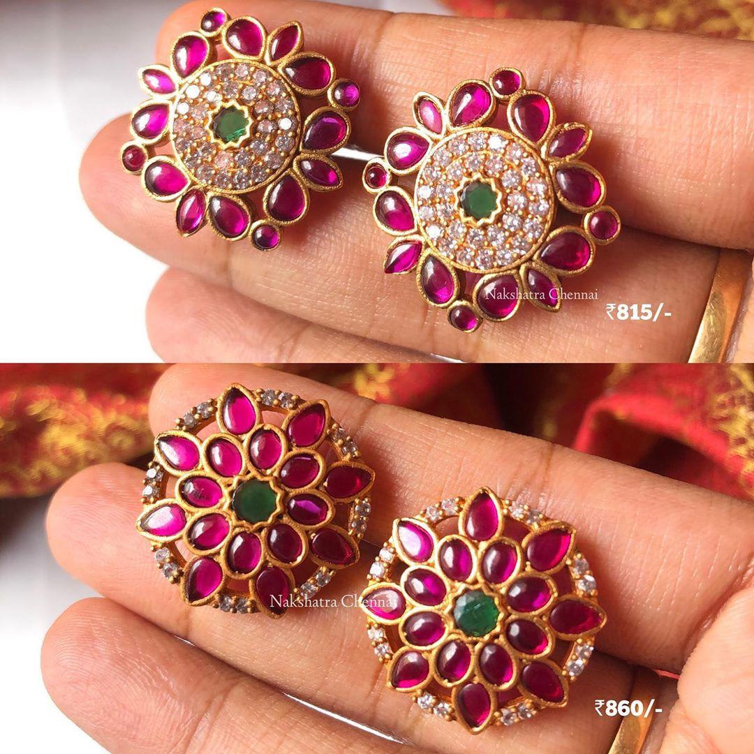 kemp-cz stones-light-weight-stud-earrings