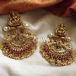 Lakshmi Coin Pearl Hanging Earring