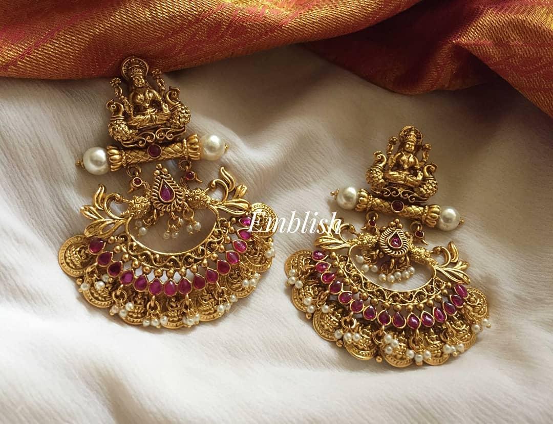 lakshmi-coin-pearl-hangings-earring