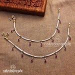 Pure Silver Dual Tone Anklets
