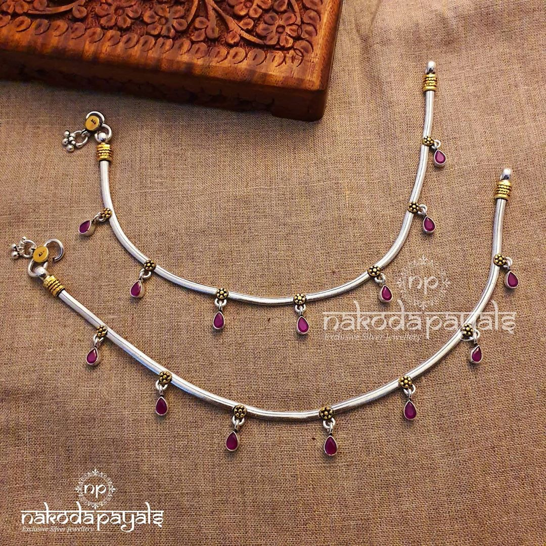pure-silver-dual-tone-anklets