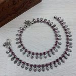 Pure Silver Oxidised Kemp Anklets