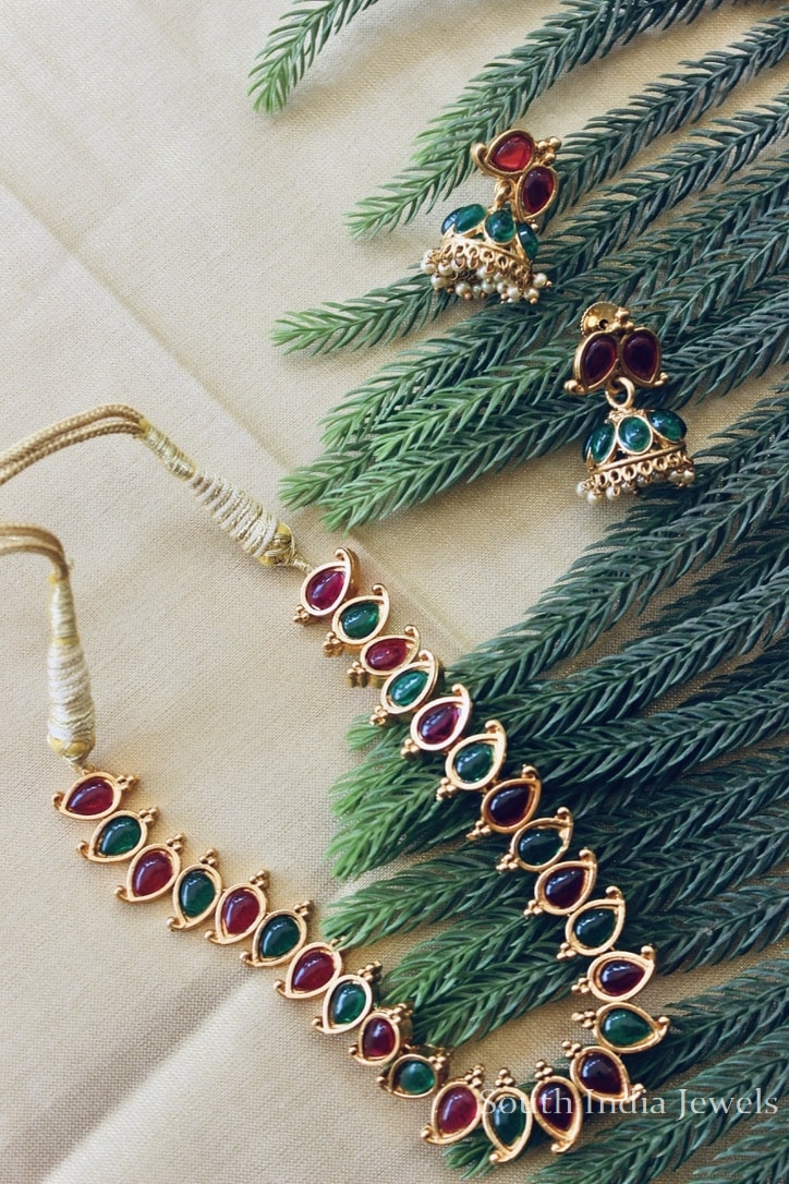 ruby-emerald-kempstone-necklace-with-earrings