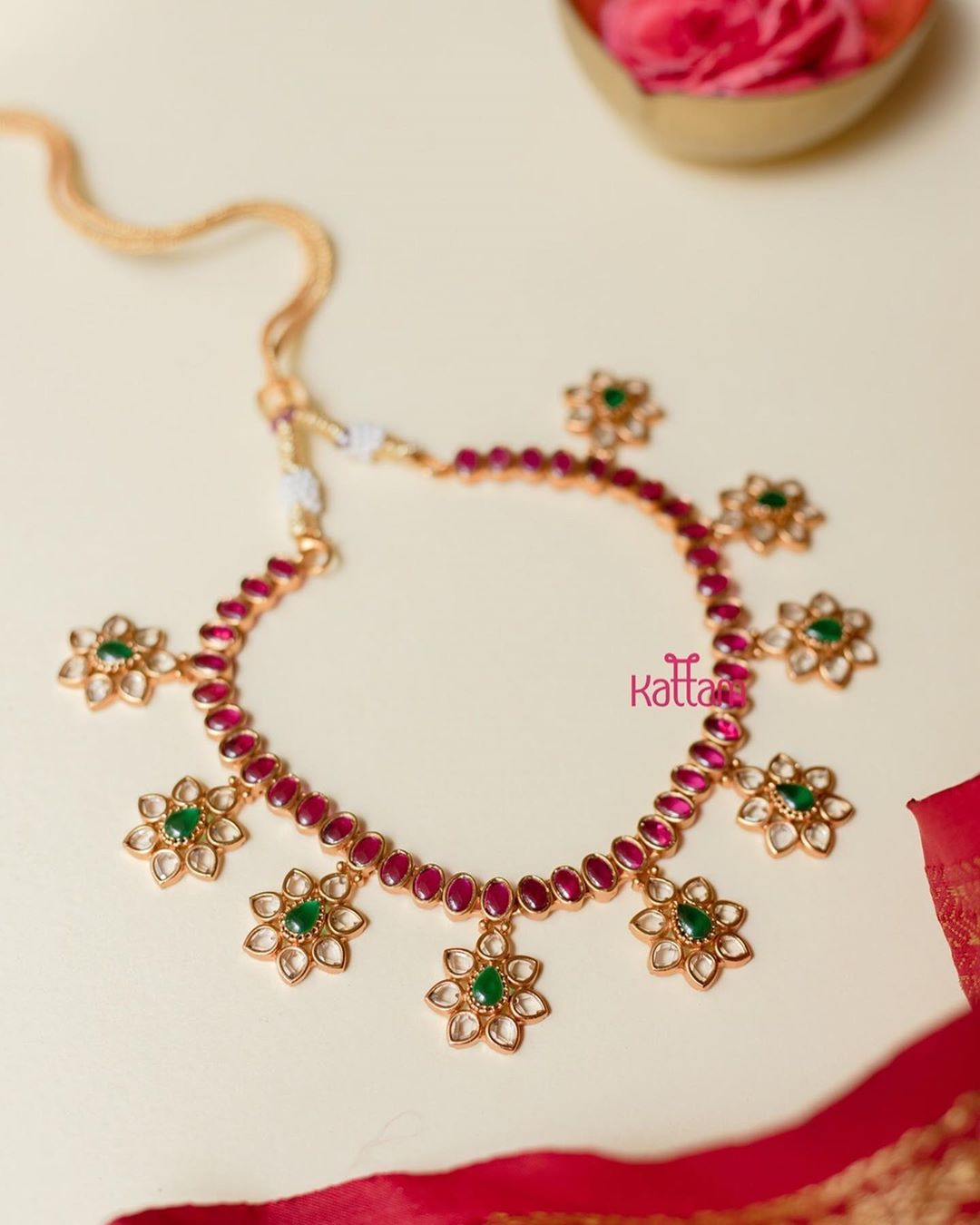 ruby-floral-white-stone-necklace-set-earrings