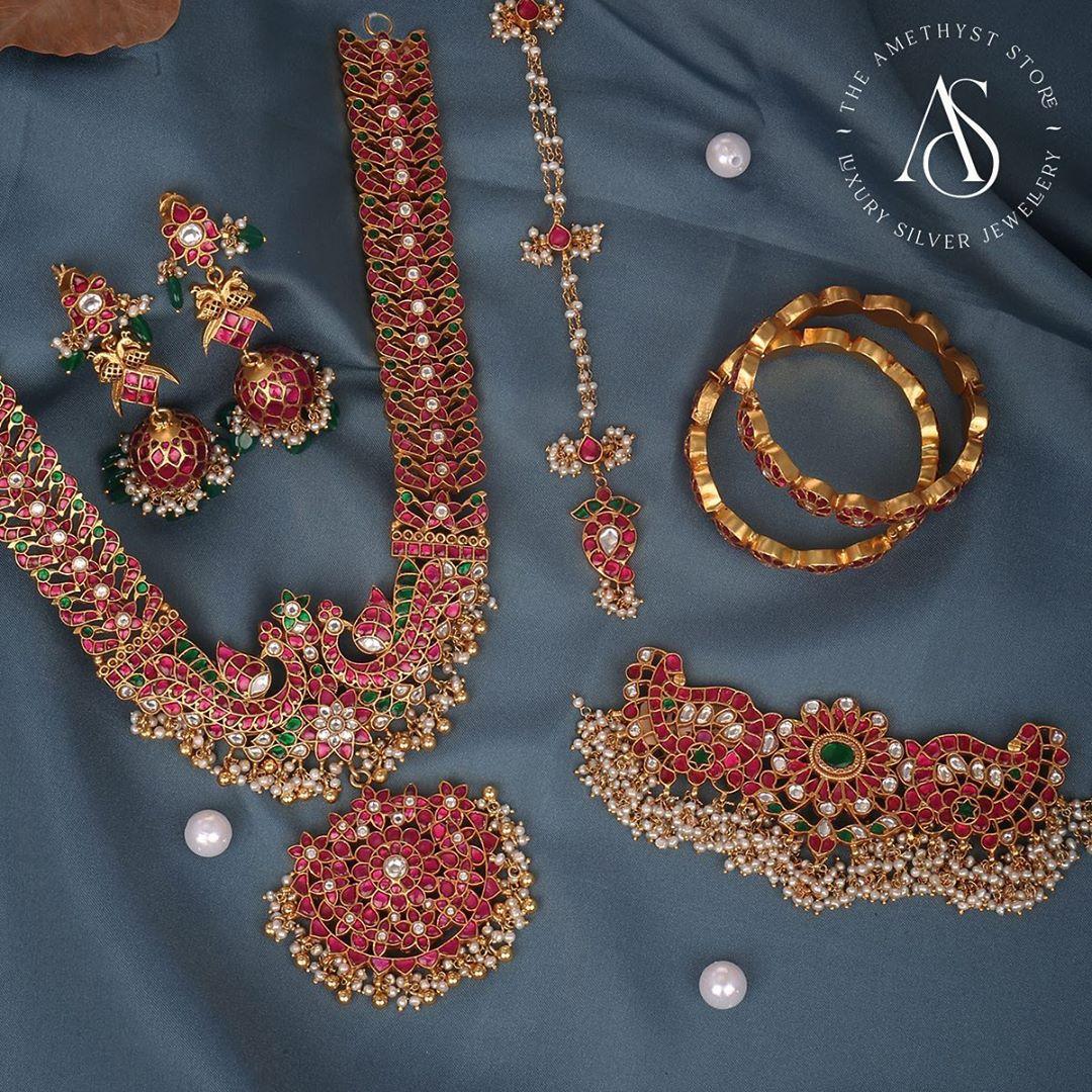 silver-goldplated-semiprecious-pearls-set