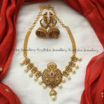 Simple Choker Necklace And Jhumkas