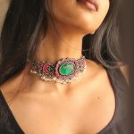 Stone Kundan And Pearl Choker Necklace