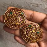 Stone Studded Big Stud Earrings