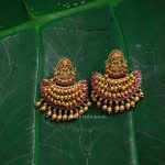Antique Lakshmi Design Chandbali Earrings