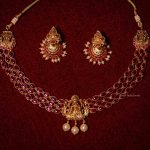 Elegant Three Layered Lakshmi Short Necklace