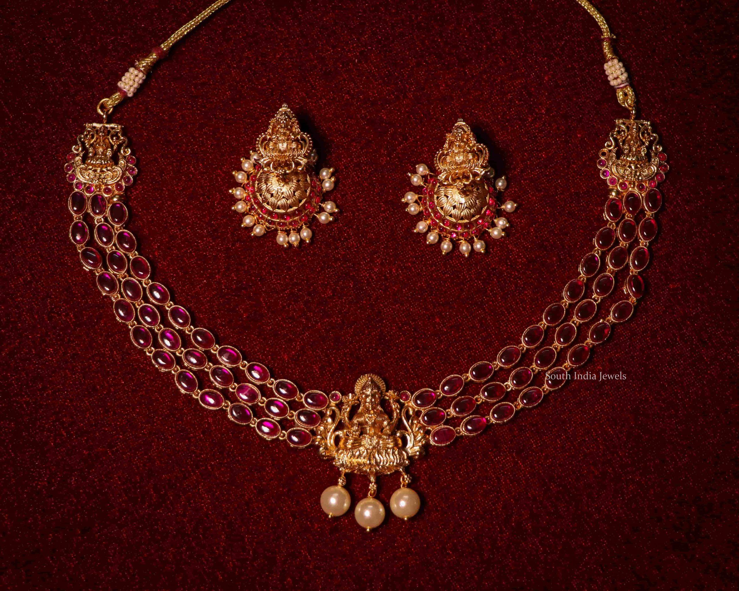 Elegant-Three-Layered-Lakshmi-Short-Necklace-02-scaled