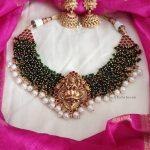 Imitation Lakshmi Pendant Beads Necklace