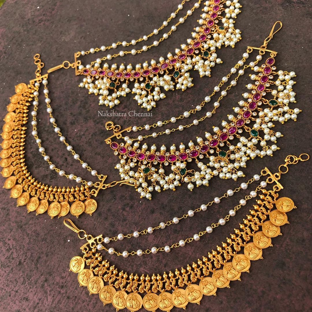 antique-earchains-heavy-jhumkas