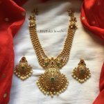 Five Layer Golden Pearl Necklace Set
