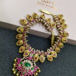 Gold Plated Silver Mango Kundan Nakas Necklace