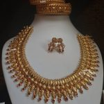 Gold Plated Silver Necklace Bangles Set