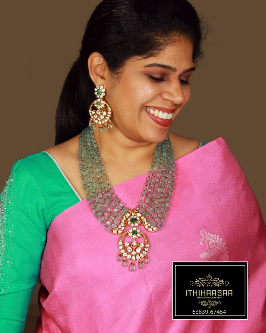 gold-plated-silver-polki-finish-necklace