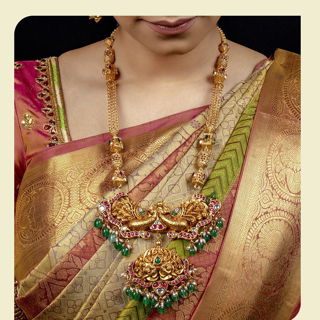 handmade-semi-precious stones-beads-studded-silver-necklace