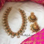 Multistone Necklace With Heavy Jhumka
