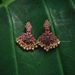 Pretty Antique Kemp Stone Earrings