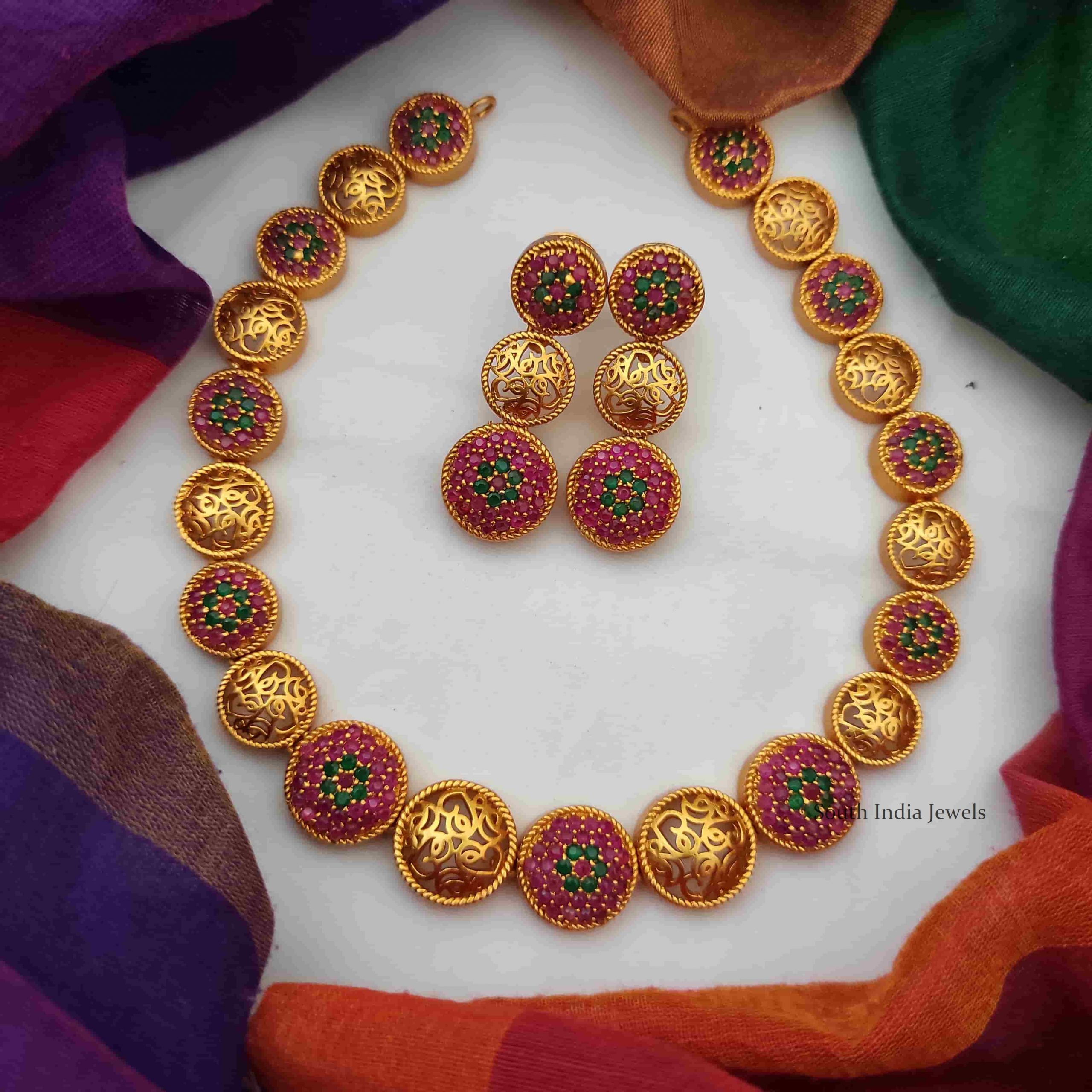 ruby-emerald-necklace-set