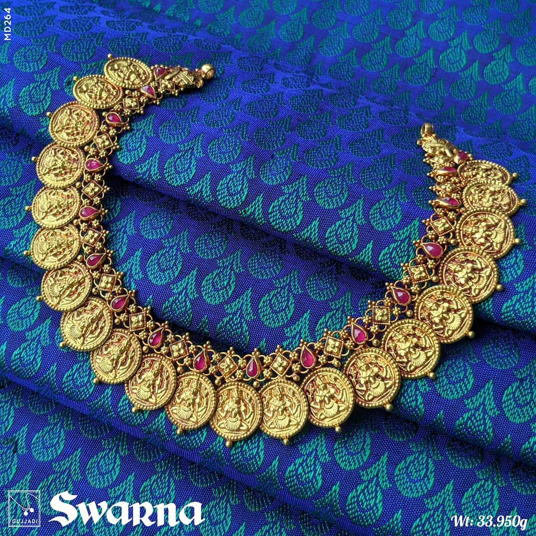 ruby-studded-goddess-rajarajeshwari-coin-necklace