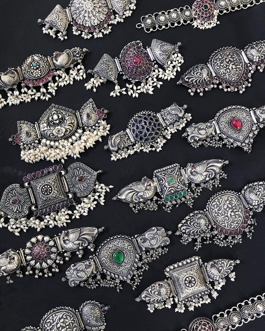 silver-choker-necklace-designs