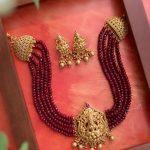 Agate Bead Nakshi Motif Lakshmi Choker Set