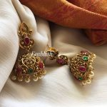 Antique Flower Design Jhumka