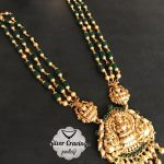 Beads Necklace With Lakshmi Nakshi Pendant